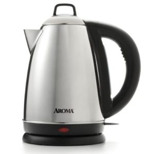 Aroma Hot H20 X-Press 1.5 Liter (6-Cup) Cordless Electric Water Kettle, Stainless Steel