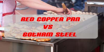 Red Copper Pan vs Gotham Steel