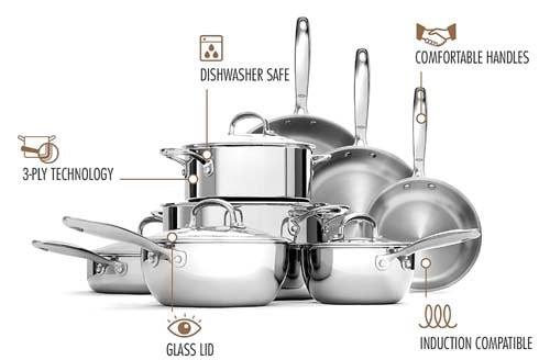 oxo stainless steel cookware review