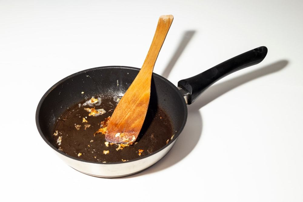 non-stick pan to lose its non-stick qualities